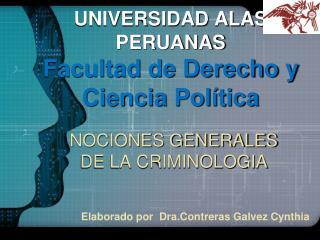 UNIVERSIDAD ALAS PERUANAS Facultad de Derecho y Ciencia Política