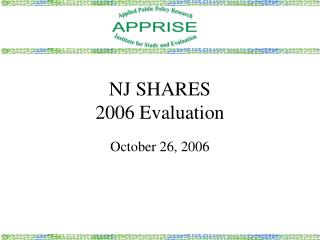 NJ SHARES  2006 Evaluation