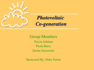 Photovoltaic  Co-generation