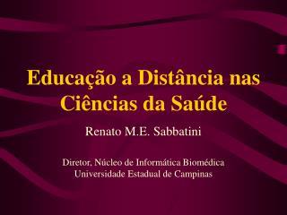 Educação a Distância nas Ciências da Saúde