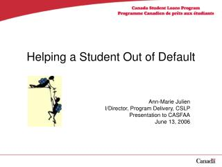 Helping a Student Out of Default
