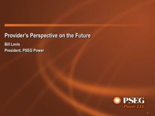 Provider's Perspective on the Future