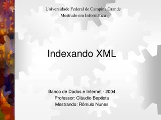 Indexando XML