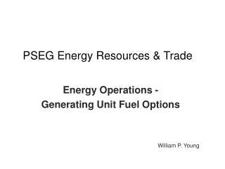 PSEG Energy Resources & Trade