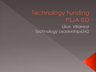 Technology Funding PSJA ISD