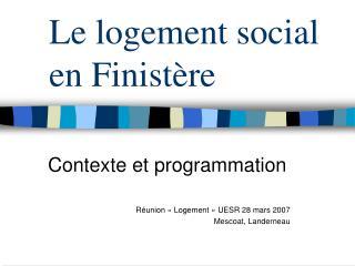 Le logement social en Finistère