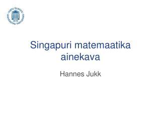 Singapuri matemaatika ainekava