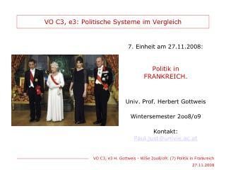 VO C3, e3: Politische Systeme im Vergleich