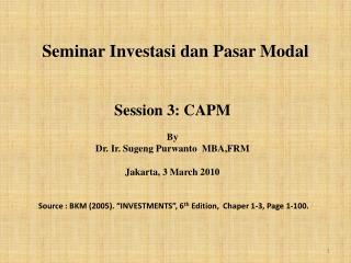 Seminar Investasi dan Pasar Modal