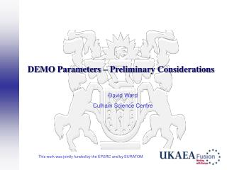 DEMO Parameters   Preliminary Considerations