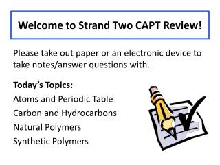 Welcome to Strand Two CAPT Review!