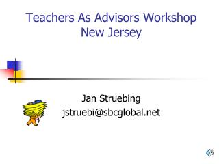 Teachers As Advisors Workshop New Jersey
