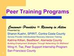 Peer Training Programs