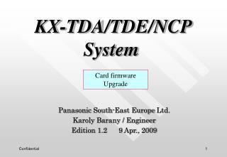 KX-TDA /TDE/NCP  System