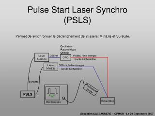 Pulse Start Laser Synchro  (PSLS)
