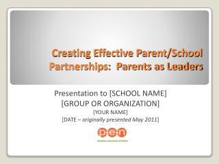 Creating Effective Parent