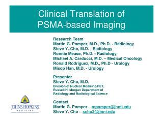 Clinical Translation of  PSMA-based Imaging