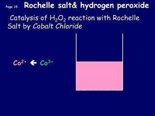 Page 15  Rochelle salt hydrogen peroxide