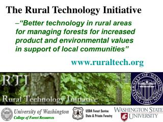 The Rural Technology Initiative