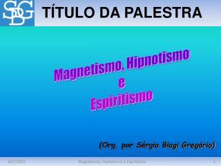 T�TULO DA PALESTRA