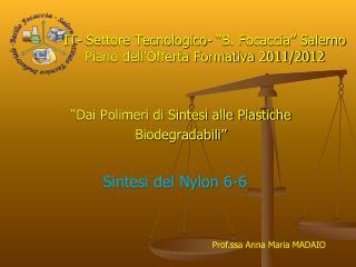 """IT- Settore Tecnologico- """"B. Focaccia"""" Salerno Piano dell'Offerta Formativa 2011/2012"""