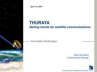 THURAYA Setting trends for satellite communications
