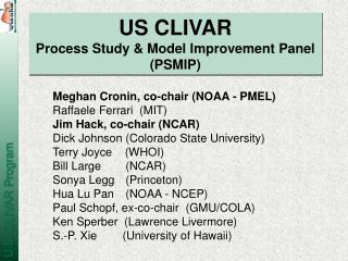 US CLIVAR Process Study & Model Improvement Panel (PSMIP)
