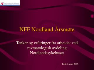 NFF Nordland Årsmøte