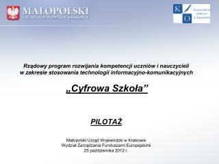 W terminie określonym w rozporządzeniu, do Wojewody Małopolskiego wpłynęły: 383 wnioski ,