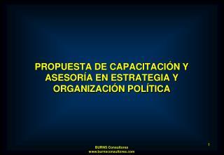 PROPUESTA DE CAPACITACIÓN Y   ASESORÍA EN ESTRATEGIA Y ORGANIZACIÓN POLÍTICA