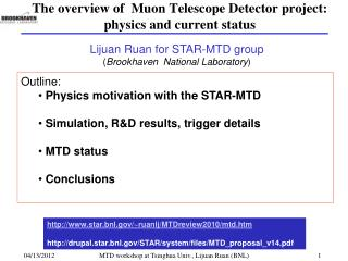 The overview of  Muon Telescope Detector project: physics and current status