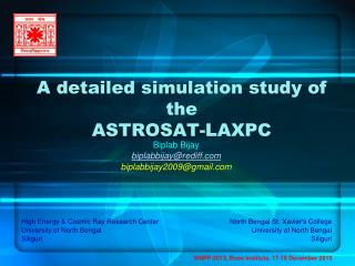 A detailed simulation study of the  ASTROSAT-LAXPC