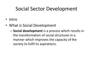 Social Sector Development