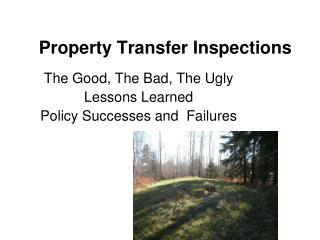 Property Transfer Inspections