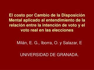 Milán, E. G., Iborra, O. y Salazar, E UNIVERSIDAD DE GRANADA.