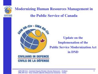 Modernizing Human Resources Management in the Public Service of Canada