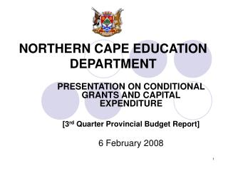 NORTHERN CAPE EDUCATION DEPARTMENT