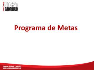 Programa de Metas