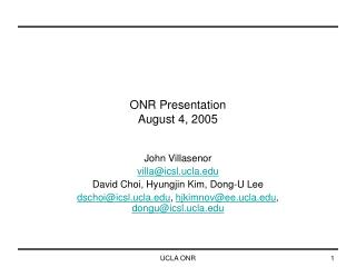 ONR Presentation August 4, 2005