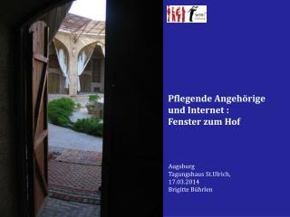 Augsburg Tagungshaus St.Ulrich,  17.03.2014   Brigitte Bührlen