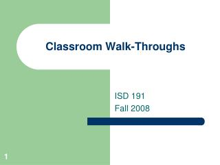 Classroom Walk-Throughs