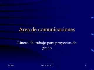 Area de comunicaciones