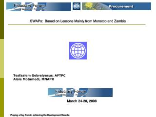 SWAPs:  Based on Lessons Mainly from Morocco and Zambia
