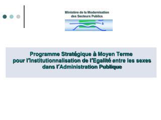 Programme Strat � gique  �  Moyen Terme