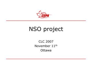 NSO project