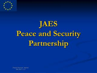 JAES Peace and Security Partnership