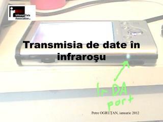 Transmisia  de date în infraroşu