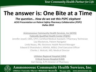 Ammonoosuc Community Health Services, Inc (ACHS)  Federally Qualified Health Center (FQHC)