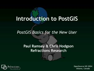 Introduction to PostGIS