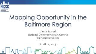 Mapping Opportunity in the Baltimore Region